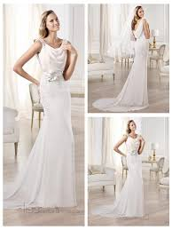 draped wedding dress beaded straps draped boat neck and back wedding dresses featuring