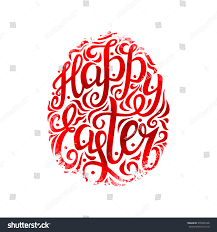 Easter Egg Decorating Poster by Hand Lettering Typography Posterhappy Easter Script Stock Vector