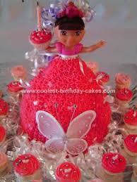 cool homemade dora doll cake