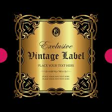 luxury ornamental gold label vector material 13 vector label