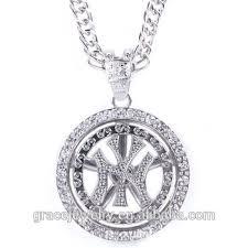 hip hop necklace pendants images Mens white gold hip hop chain ny pendant of necklaces buy men jpg