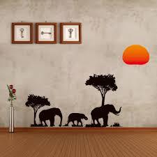 aliexpress com buy jungle wild cartoon tree elephant sun prairie