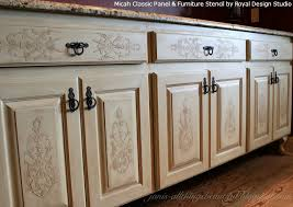 stencils for kitchen cabinets embossed stenciling on furniture and cabinet doors and drawers