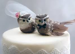 birds wedding cake toppers owl cake topper in cocoa brown woodland and