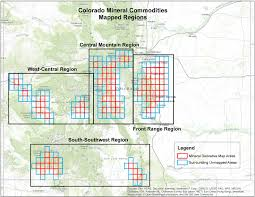 4 Corner States Map by Mineral Resource Derivative Maps Colorado Geological Survey