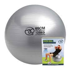 Pilates Ball Chair Size by 125kg Anti Burst Swiss Ball 65cm Mad Hq