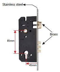 Patio Door Mortise Lock by White Keyed Step On Sliding Door Lock Defender Security