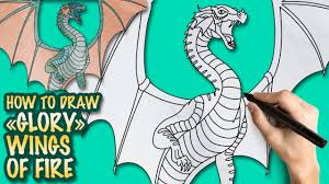 how to draw wings of fire glory easy step by step drawing