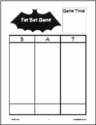 mathwire com math activity themes bats
