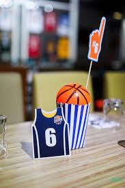 basketball centerpieces kara s party ideas all basketball birthday party kara s