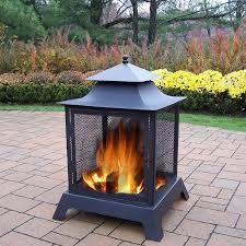 Metal Firepits Pits Steel Wood Burning Pagoda Reviews Birch