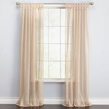 brylanehome studio voile tab top curtain sheer curtains