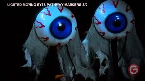 Lighted Halloween Costumes by Lighted Moving Eyes Pathway Markers Youtube