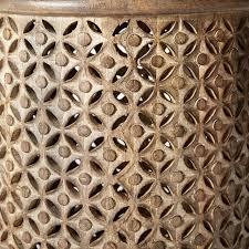 carved wood side table west elm