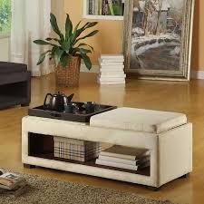 furniture bench coffee table design ideas cream rectangle mid