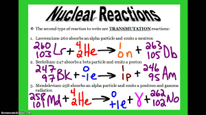 nuclear reactions youtube