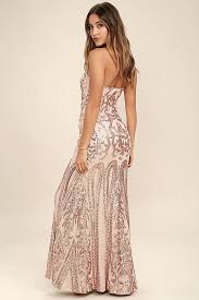 bariano dresses gold strapless sequin maxi dress sequin maxi