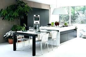 ilot de cuisine avec table amovible ilot de cuisine avec table amovible grande table cuisine ilot