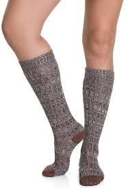 s knee socks black brown