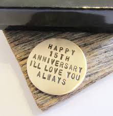 15th anniversary gifts 15th anniversary golf marker for men 15th wedding anniversary