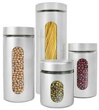 stainless kitchen canisters stainless steel kitchen canister sets ebay