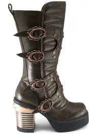 womens boots mid calf brown steunk style womens boot mid calf boot with 3 1 2 inch