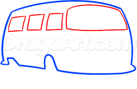 volkswagen hippie van clipart how to draw a hippie van step by step trucks transportation