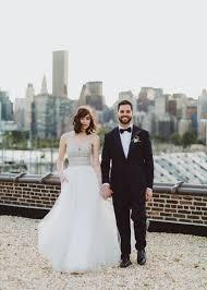 wedding dress nyc modern new york city wedding at the foundry ben green