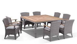 square outdoor dining table appealing square outdoor dining table bali nirwana 8 teak with