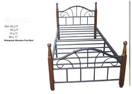 Single Bed Frame For Sale H502 Wooden Post Bed Sale Sale Lorenz Furniture