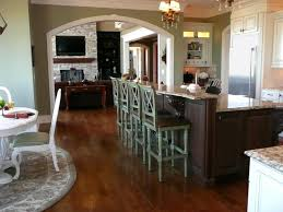 stunning country style kitchen design brown laminate wooden floor