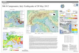 Italy Earthquake Map by M 6 0 Northern Italy