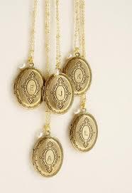 monogram locket necklace bridesmaid jewelry initial necklace bridesmaid locket pendant