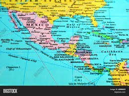 mexico america map map of mexico and central america with centro utlr me
