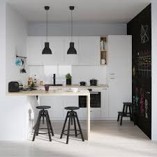 kitchen bare scandinavian kitchen white tiled floor open black