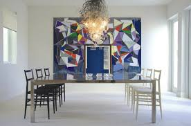 kitchen towel stone art style design living 20 dining rooms featuring artworks that make all the difference