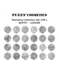 pueen 24b l buffet leisure nail art stamping plates