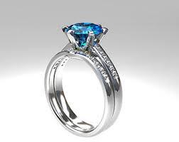 blue topaz engagement rings engagement ring set swiss blue topaz diamond band wedding