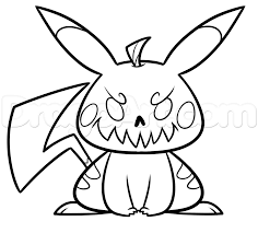 halloween cartoon drawings how to draw halloween pikachu step by step halloween seasonal