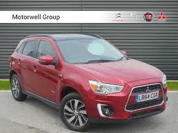 mitsubishi red used mitsubishi asx di d 4 red 2 3 4x4 bridport dorset