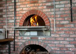 a wood fired pizza oven in the classic napoli style stock photo