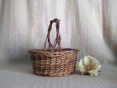 Basket For Wedding Programs Grapevine Planter Wall Basket Pocket Basket Rustic Decor Wedding