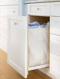 Bathroom Cabinet With Built In Laundry Hamper So Genius Hide Your Laundry Hamper In Specially Built Cupboard