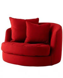 Round Armchairs Red Swivel Chairs Foter
