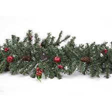 72 green garland with berries and pinecones pm44