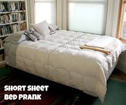 How To Tie Someone Up In Bed Short Sheet Bed Prank 5 Steps With Pictures