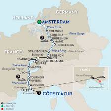 France Germany Map by France River Cruise Avalon Waterways