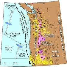 physical map of oregon juan de fuca plate usgs geology and geophysics