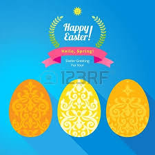 floral ornamental eggs for design bright element for