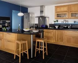 modele de cuisine en bois beautiful cuisine bois et noir ideas design trends 2017